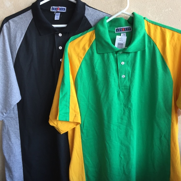Jerzees Other - Vintage 1990 Jerzees men's polos size Large